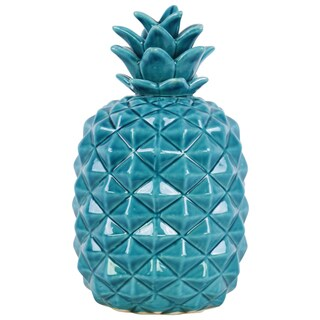 Urban Trends Collection Blue Ceramic Pineapple Figurine