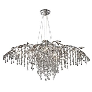 Golden Lighting #9903-12 MSI Autumn Twilight Mystic-silver Finish Steel 12-light Chandelier