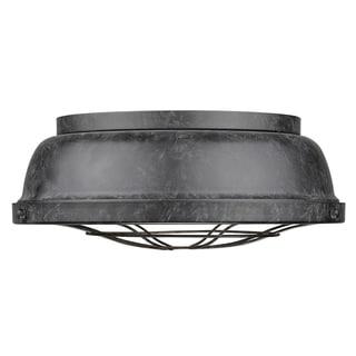 Golden Lighting's Bartlett Black Patina Steel Mini Pendant Light Fixture