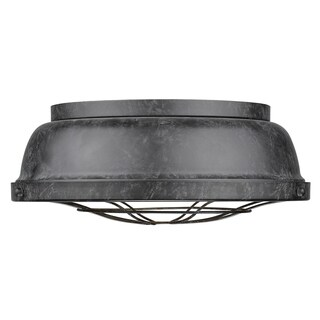Golden Lighting's Bartlett Black Patina Steel Mini Pendant Light Fixture
