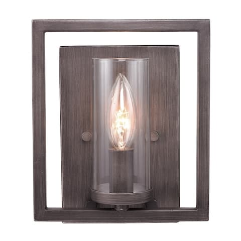 Golden Lighting Gunmetal Bronze Steel Marco Wall Sconce
