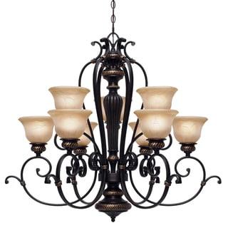 Golden Lighting Jefferson 2-tier 9-light Chandelier