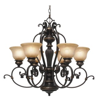 Golden Lighting 6029-6 EB Jefferson Bronze Steel 6-light Chandelier