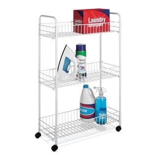 Whitmor 6023-323 White Slim Household Cart