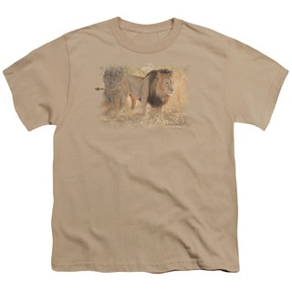 Wildlife/Shumba in The Grass Short Sleeve Youth 18/1 Sand