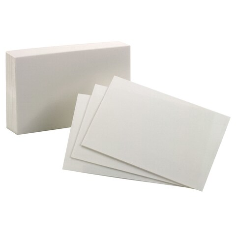 "Oxford 40150-SP 100 Count 3"" x 5"" Blank Index Cards"
