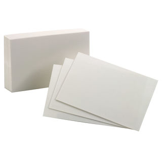 """Oxford 40150-SP 100 Count 3"""" x 5"""" Blank Index Cards"""