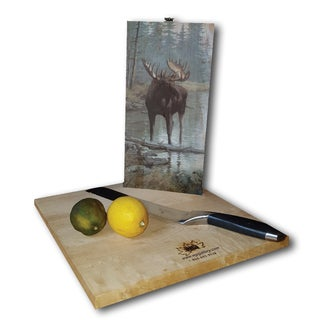 WGI Gallery Quiet Water Moose Wood Cutting Board (2 options available)