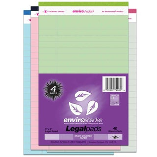 "Roaring Spring Paper Company 74000 4 Count 5"" X 8"" Assorted Legal Pads"