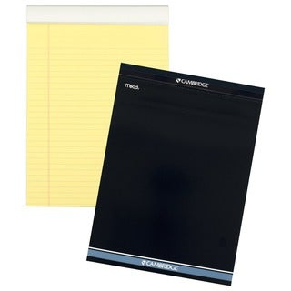 "MeadWestvaco 59870 8-1/2"" X 11"" Canary Yellow Cambridge Stiff Back Legal Pad"