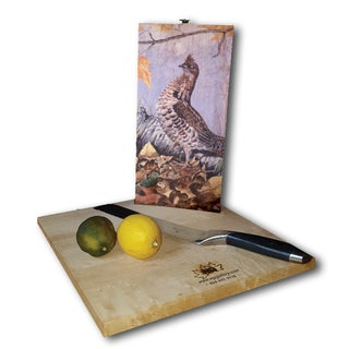 WGI Gallery Ruffed Grouse Wood Cutting Board (2 options available)