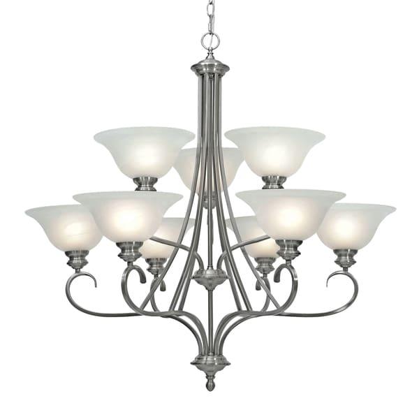Golden Lighting's Lancaster 2-tier 9-light Chandelier