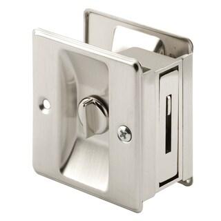 """Prime Line N7239 2-3/4"""" Satin Nickel Pocket Door Privacy Lock & Pull"""