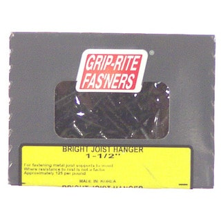 """Grip Rite 112JST1 1 Lb 1-1/2"""" Bright Smooth or Barbed Shank Joist Hanger Nail"""