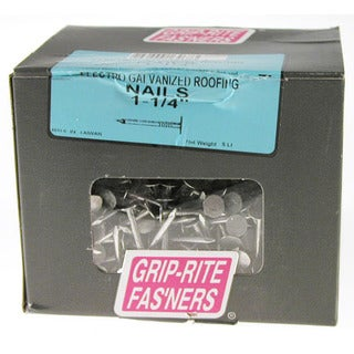 "Grip Rite 114EGRFG5 5 Lb 1-1/4"" Electro Galvanized Roofing Nails"