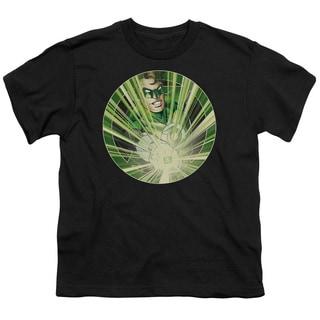 Green Lantern/Light Em Up Short Sleeve Youth 18/1 in Black
