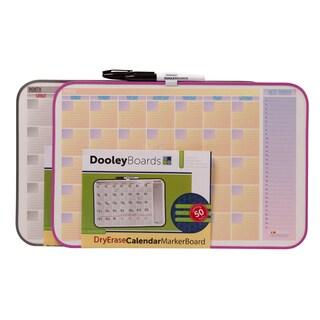 """Dooley Boards 1117 CALV 11"""" X 17"""" Calendar Dry Erase Board Assorted Designs"""