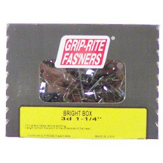 "Grip Rite 16BX1 1 Lb 3-1/2"" Bright Smooth Shank Box Nail"