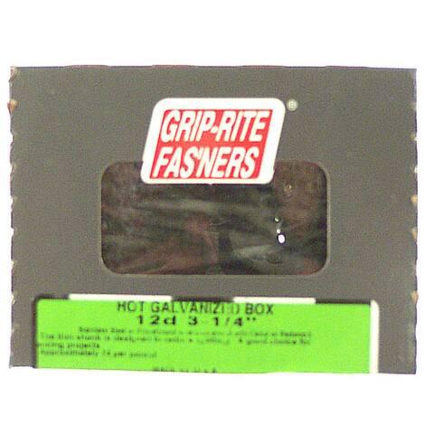 "Grip Rite 16HGBX1 1.050 Lb 3-1/2"" Hot Dipped Galvanized Smooth Shank Box Nail"