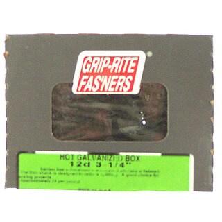 "Grip Rite 16HGBX5 5 Lb 3-1/2"" Hot Dipped Galvanized Smooth Shank Box Nail"