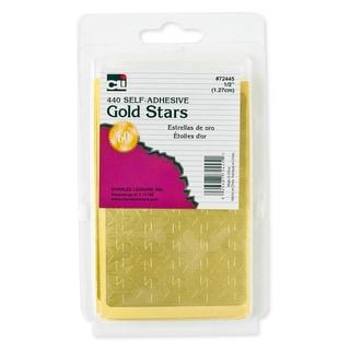 "Charles Leonard Inc. 72445 1/2"" Gold Adhesive Foil Stars"