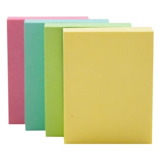 """Bazic Products 5131-144 1.5"""" X 2"""" Stick On Notes Assorted Pastel Colors"""