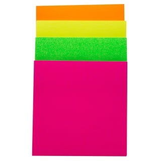 "Bazic Products 5103-144 3"" X 3"" Stick On Notes Assorted Neon Colors"