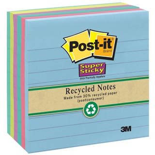 3M 675-3SSMX Assorted Neon Lined Post-it Super Sticky Recycled Notes|https://ak1.ostkcdn.com/images/products/12799967/P19570528.jpg?impolicy=medium