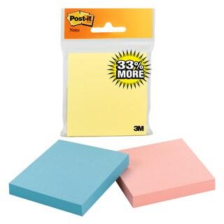 "3M 654-1PK100MC 3"" X 3"" Post-It Notes Assorted Colors"