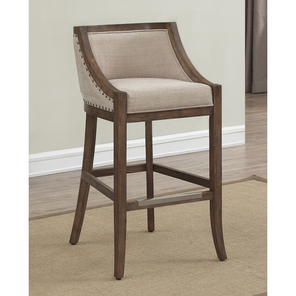 Memphis 26 Inch Brown Birch And Fabric Counter Stool By