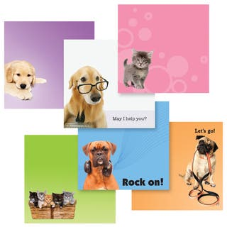 "3M 6355-PET-CITY 3.9"" X 3.8"" Pet Designs Post-It Notes
