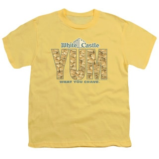 White Castle/Yum Short Sleeve Youth 18/1 in Banana