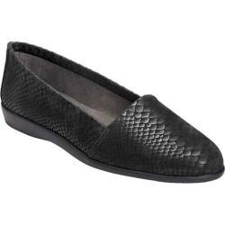 Women's Aerosoles Trend Setter Slip On Black Snake Leather