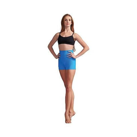 Women's Capezio Dance High Waisted Short (Set of 2) Turquoise