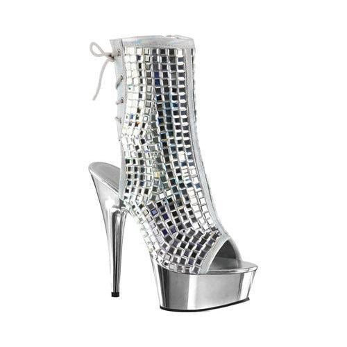 Shop Shop Shop Damens's Pleaser Delight 1018DBM Open Toe Bootie Silver Mirrors 8837a5