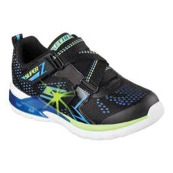 Boys' Skechers S Lights Erupters II Sneaker Black/Blue/Lime