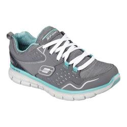 Women's Skechers Synergy Training Shoe Modern Movement/Charcoal/Aqua