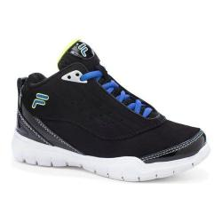 Children's Fila Flexnet Black/Prince Blue/Safety Yellow