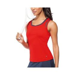 Women's Fila Heritage Full Coverage Tank Crimson/Peacoat