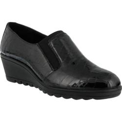 Women's Flexus by Spring Step Maiana Slip On Black Croco Leather