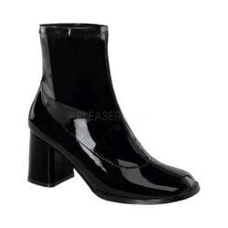 Women's Funtasma Gogo 150 Ankle Boot Black Stretch Patent