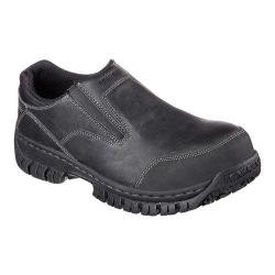 Men's Skechers Work Relaxed Fit Hartan Steel Toe Slip On Shoe Black
