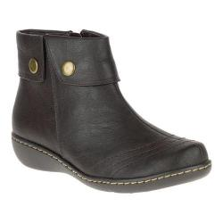 Women's Soft Style Jerlynn Ankle Boot Dark Brown Leather