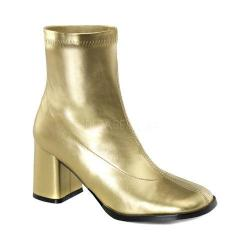 Women's Funtasma Gogo 150 Ankle Boot Gold Stretch Polyurethane