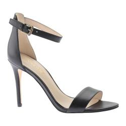 Women's Nine West Mana Sandal Black Leather Leather