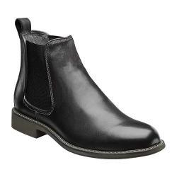 Men's Nunn Bush Hampton Plain Toe Twin Gore Boot Black Leather