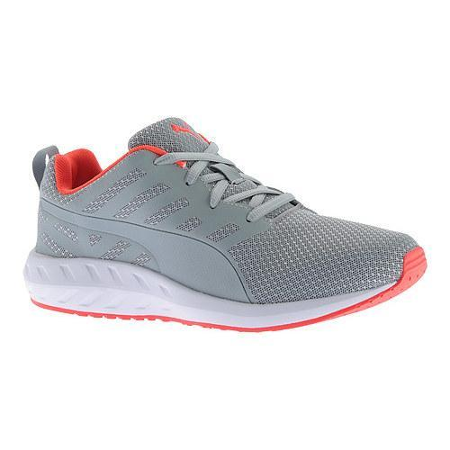 Shop Women s PUMA Flare Mesh Sneaker Quarry Red Blast Puma White - Free  Shipping On Orders Over  45 - Overstock.com - 12755904 b2cb83275