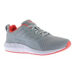 Women's PUMA Flare Mesh Sneaker Quarry/Red Blast/Puma White