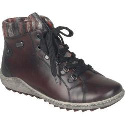 Women's Remonte Liv R1473 Ankle Boot Wine/Black/Grau-Rot Leather