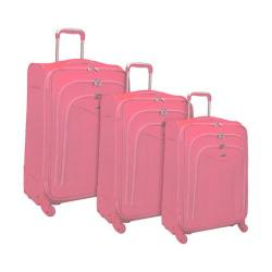 Olympia Luxe 3 Piece Luggage Set Pink